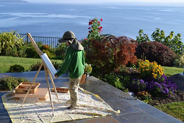 Bainbridge Island Artists - Easel Oils Ocean
