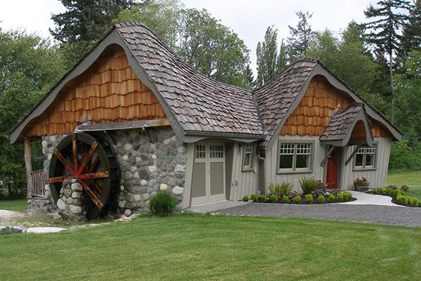 Bainbridge Island Stay Lodging Hobbit Cottage Waterwheel