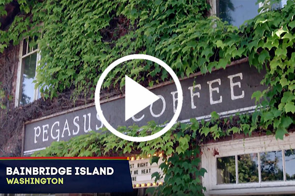 Bainbridge Island Photo Video - Pegasus Coffee House Ivy
